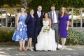 Bride with family members at Carmel Valley wedding