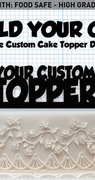 Online Custom Cake Topper Designer Builder is the customization personal unique way to showcase your