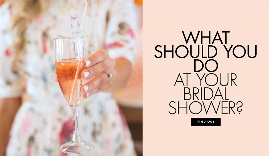 What should you do at your bridal shower? Seven ideas for activities