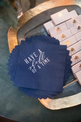 Wedding napkin design have a shell of a time for destination wedding ideas