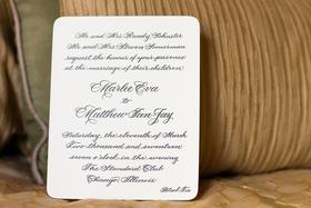 wedding ideas white invitation black calligraphy black tie formal wedding invitation