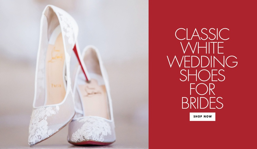 Classic white wedding shoes for brides shop your favorite styles from classic to edgy