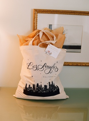 Los Angeles-inspired goody bag for out of town guests