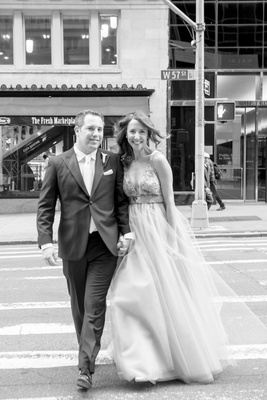 Sleek Contemporary Wedding With Jewish Traditions In New York