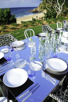 Mirror reception table at W Retreat & Spa, Vieques Island.