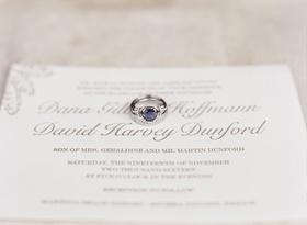 Wedding ring sapphire center stone engagement ring platinum white gold setting on gold white invite