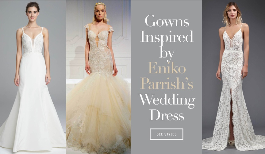 Get the look of Eniko Parrish Kevin Hart's bride's wedding dress