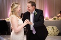 Father daughter dance at Fairmont Miramar Hotel & Bungalows pink purple lighting purple tie and lace