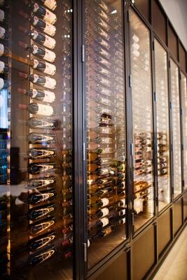 dark brown wood wine cellar