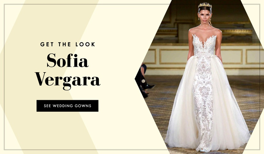 Get the look of Sofia Vergara's wedding dress