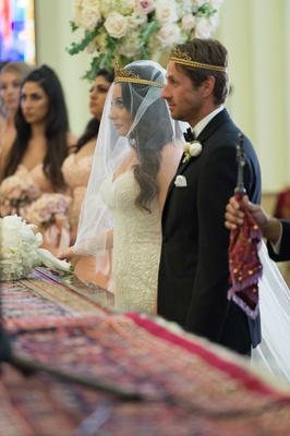 Wedding ceremony tradition Armenian custom rite of the crowning bride and groom