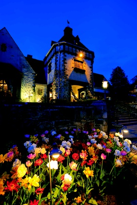 Pleasantdale Chateau at dusk