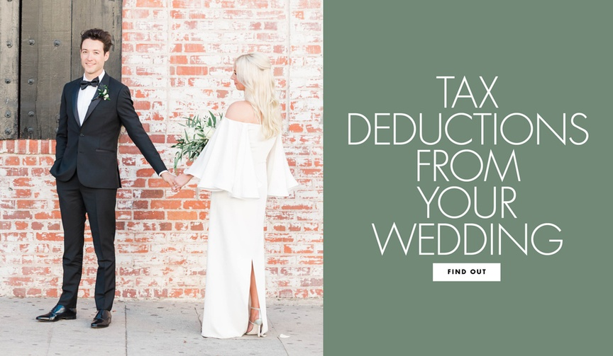 Find out what tax deductions you can get from your wedding