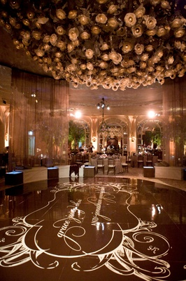 iconic beverly hills hotel ballroom floral chandelier