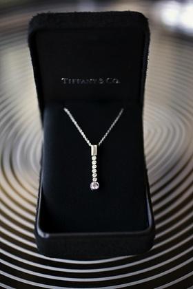 Tiffany & Co. diamond jewelry in black box