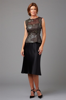 Siri Spring 2016 mother of the bride dress peplum top and Olympia black skirt