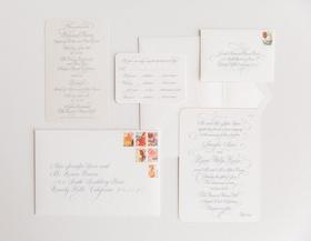 white grey gray invitations colorful stamps classic plain wedding newport beach pelican hill resort