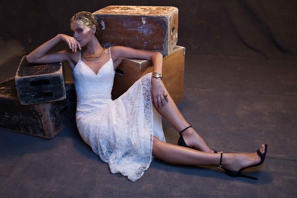 Limor Rosen 2017 Camille wedding dress spaghetti straps short skirt Treasure collection
