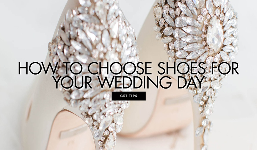 how to choose shoes for your wedding day