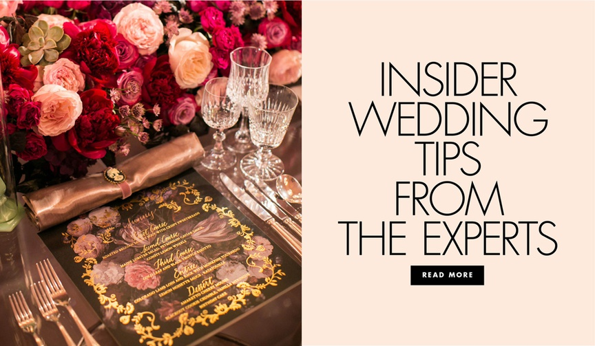Discover expert wedding tips from top wedding professionals across the country.