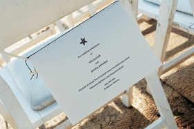 Starfish design wedding invitation with Jewish details