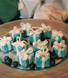 Mini Tiffany & Co. petit fours and blueberries