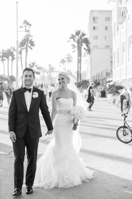 Bride and Groom at Shutters on the Beach Wedding Santa Monica CA
