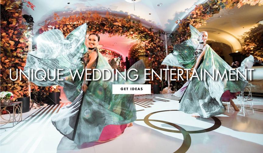unique entertainment ideas for wedding receptions