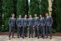groom and groomsmen in grey suits and dark brown dress shoes florida wedding