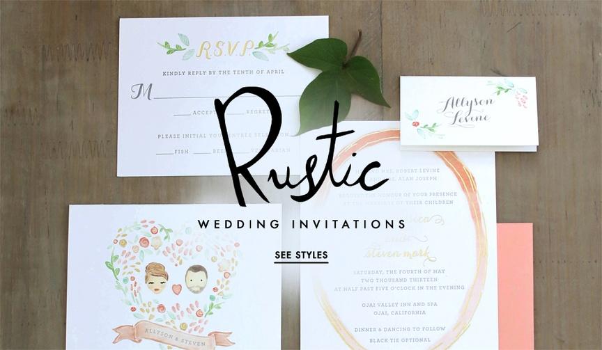 Rustic wedding invitations wedding ideas