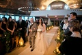 Alexis Cozombolidis and Hunter Pence wedding bride walking down aisle with father traditional
