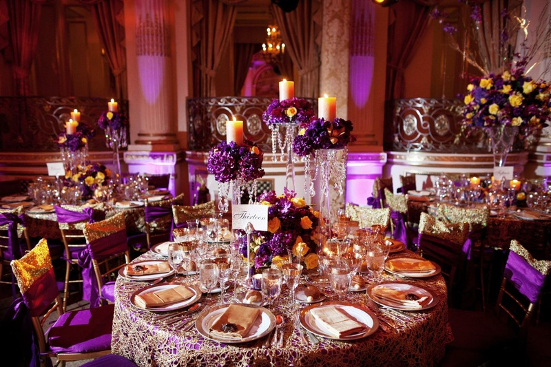 Beautiful cultural indian wedding in new york city inside weddings new york city reception hall indian wedding reception decor and tables junglespirit Choice Image
