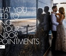 checklist for what to bring to your wedding vendor appointments
