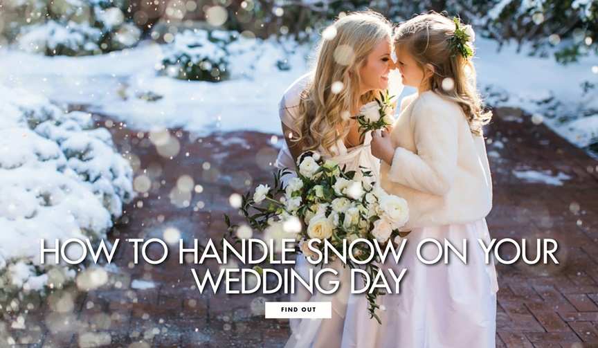How to handle snow on your wedding day wedding ideas advice