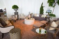 Mismatched, Small centerpieces, Whimsical wedding, tented venue, candles,