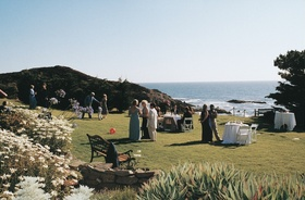 Abalone Cove lawn with ocean view