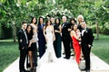 Jillian Murray and Dean Geyer wedding day family portrait with family babies formal attire dog