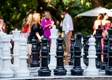 wedding reception games activities oversized chess board with pieces checkerboard check mate