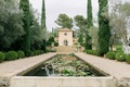 wedding at Château Diter in south of france, ornamental ponds with lilypads