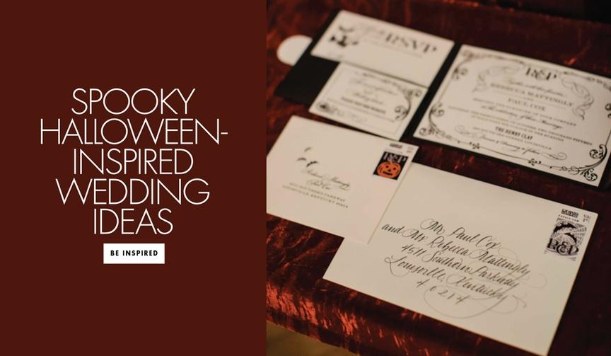 Spooky Halloween-inspired wedding ideas for your fall wedding