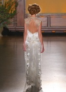 Gold lace keyhole back Asscher dress by Claire Pettibone Gilded Age