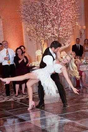 Tamra Barney and Eddie Judge choreographed first dance