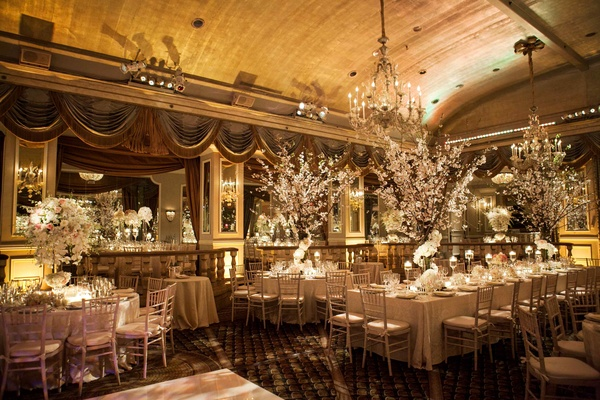 Formal manhattan wedding with opulent ballroom d cor for Ball room decoration