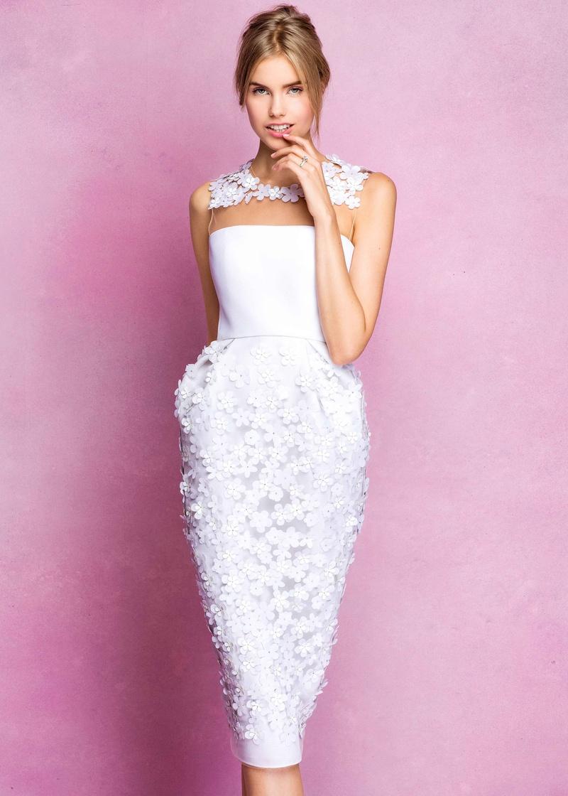 Wedding Dresses Photos - Angel Sanchez Fall 2016 Short Flower Dress ...
