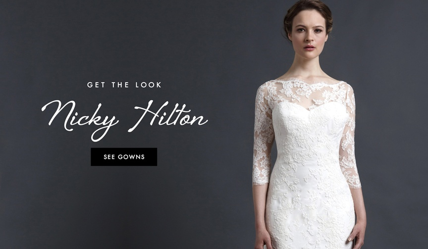 Lace wedding dresses inspired by Nicky Hilton wedding