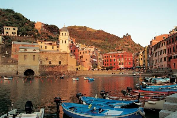 Marina in Vernazza, Italy in Cinque Terre region