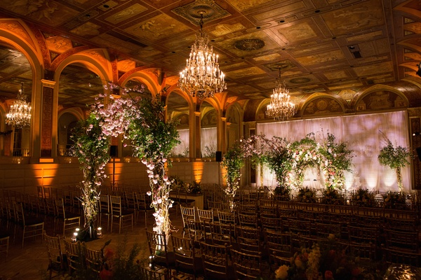 Jewish ceremony décor at The Plaza Hotel in New York