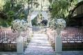 calamigos ranch wedding outdoor ceremony, rose gold chiavari chairs
