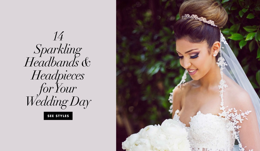 14 sparkling headbands and headpieces for your wedding day