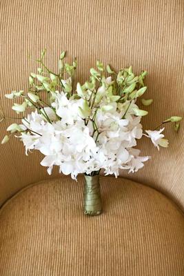 Bridesmaid nosegay composed of dendrobium orchids